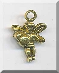Gold Pewter Angel Charms 3D 18x12mm 10 per bag