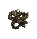 Bronze Pewter Dragon Pendants 27x29mm 6 per bag