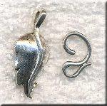 10 Silver Pewter Fancy Leaf Jewelry Clasps