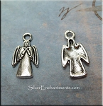ZSOLDOUT / Silver Pewter Angel Charms 18x10mm 10 per bag