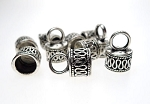 10 Silver Pewter Bali Style Jewelry End Caps wth 7mm Opening