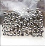 Silver Plated Ball Beads 3mm 100 per bag