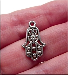 Hamsa Necklace Evil Eye Warding Hand Necklace