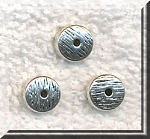 20 Silver Pewter Rondelle Spacer Beads with Textured Pattern 8mm