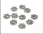 Spiral Jewelry Connectors, Flower (10)