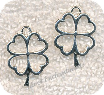 Four Leaf Clover Pendants, Shamrock Pendants (10)