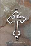 Silver Pewter Cross Connector Jewelry Findings 35x21mm 10 per bag