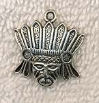 Silver Pewter Mayan Charms-Pendants 23x22mm 10 per bag