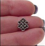 Celtic Beads with 3mm Hole, Antique Silver (10)