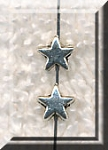 5mm Star Beads, Antique Silver (40)