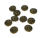 Antique Brass Fleur-de-lis Beads 16mm with 1.5mm Hole (10)