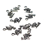 Wholesale Witch Charns, Double Sided Little Child Witch on Broom Charms, Bulk (10)