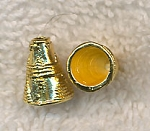 Jewelry Cones with 6mm Opening, Bright Gold (10)