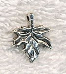 Leaf Charms, Antique Silver Beader Bailed (15)