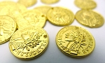 Gold Pewter Gypsy Jewelry Coins, Bright Gold 15mm 20 per bag