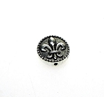 Fleur-de-lis Bead, 16mm Lily Bead with 1.5mm Hole