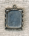 SOLDOUT - Decorative Inlay Bezel Frame or Picture Frame Charm Pendant