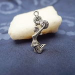 Jumping Cheerleader Charm, Cheerleading Jewelry