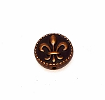 Copper Fleur-de-lis Bead 16mm with 1.5mm Hole Pewter New Orleans Lily Beads (1)