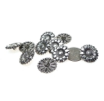 Flower Buttons, 18mm Wrap Bracelet Closures (10)
