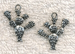 SOLDOUT - Prickly Pear Pendants, Antique Silver Cactus Pendants (10)