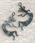 ZSOLDOUT / Silver Pewter Kokopelli Pendants 32x17mm 10 per bag