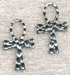 Hammered Ankh Pendant Necklace - Everyday Silver Ankh Jewelry