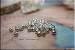 Round Ball Beads, Silver Plated 3.75mm (50)