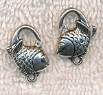 Silver Plated Fish Lobster Clasps 5 per bag