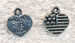 Silver Made in USA Jewelry Tags, Antique Silver Pewter Jewelry Tags, Bulk (20)