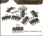 Fancy 4 to 1 Strand Jewelry Connectors, Earring-Bracelet-Necklace Parts (10)