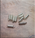 Coil Link Jewelry Connectors, Bright Silver (10)