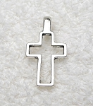 Bailed Cross Pendant, Antique Silver