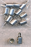 Plain Jewelry End Caps with 4.5mm Opening, Antique Silver (10)