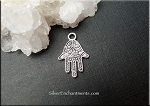 Silver Hamsa Hand Necklace - Everyday Evil Eye Warding Hamsa Jewelry