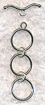 Triple Loop Toggle Clasps, Extender Toggles (10)