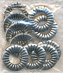 15mm Decorative Flat Jewelry Making Rings, Antique Silver (10)