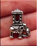 Indian Elephant Large Hole Bead, Big Hole Elephant Charm Bead
