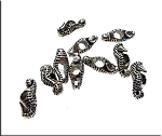 Seahorse Big Hole Beads, Antique Silver (10)