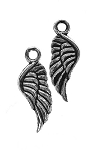 Wholesale Double-Sided Angel Wing Charms, 21x8mm, Bulk (20)