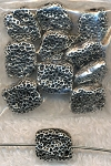 Nugget Beads, Antique Silver, 8x10x7mm (10)