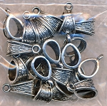 Jewelry Bails, Textured Decorative Jewelry Bales (20)