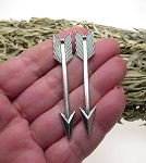 Long Arrow Pendant, 60mm Double Sided Arrow Jewelry