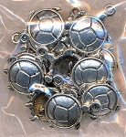 Tibetan Silver Turtle Charms - Bulk Pack Shown