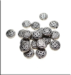 Small Celtic Coin Beads 7mm Bulk (20)