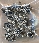 Ring of Flowers Large Hole Beads, Bulk (10)
