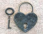 Heart Lock and Key Pendant Set