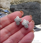 SOLDOUT - Fancy Cross Large Hole Bead, European Style Cross Bead