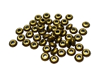 SOLDOUT - 5mm Saucer Rondelle Spacers, Antique Brass Finish (50)