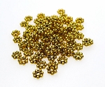 5mm Daisy Spacers, Antique Gold Finish (100)
